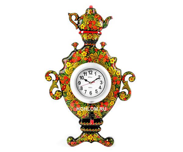 """Часы настенные """"Самовар"""" Хохлома"""