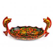 Ладья золотые рыбки c хохломской росписью