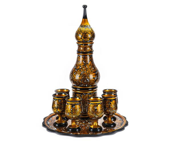 Набор для шампанского с хохломской росписью ручной работы